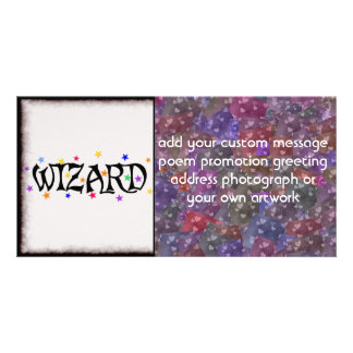 Wizard and Stars Personalized Photo Card
