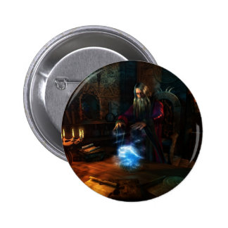 Wizard 6 Cm Round Badge