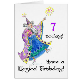 'Wizard' Birthday Card for a 7-year-old