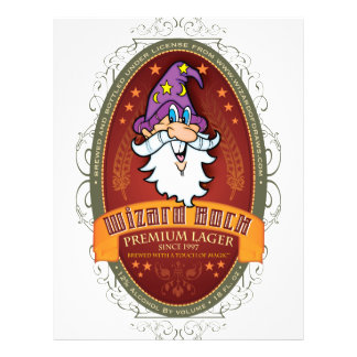 Wizard Bock Beer Label Personalized Flyer