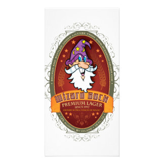 Wizard Bock Beer Label Personalised Photo Card