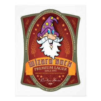 Wizard Bock Label Flyers