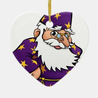 Wizard Cartoon Character Ceramic Heart Decoration