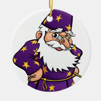 Wizard Cartoon Character Round Ceramic Decoration