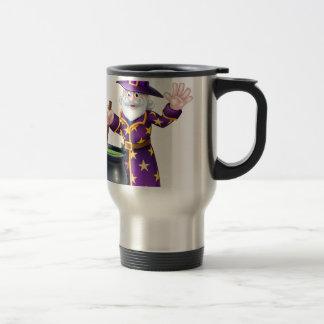 Wizard Cartoon Character Travel Mug