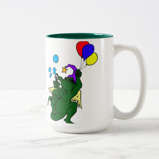 Wizard Dragon With Balloons Mugs