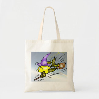 Wizard Fish - funny cute drawing Canvas Bags