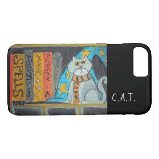 Wizard Folk Art Cat Painting iPhone 8/7 Case