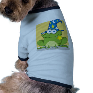 Wizard Frog With A Magic Wand In Mouth Pet Tee