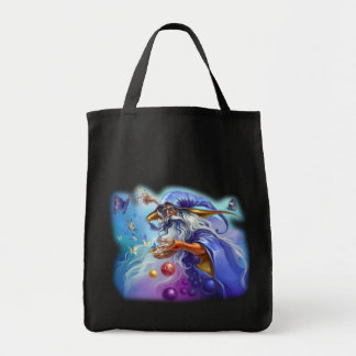 wizard grocery tote bag