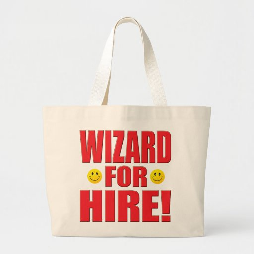 Wizard Hire Life Canvas Bags