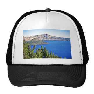 Wizard Island - Crater Lake National Park Mesh Hats