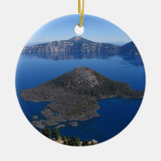 Wizard Island @ Crater Lake, Oregon Christmas Ornament
