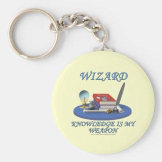 Wizard: Knowledge is My Weapon Keychains