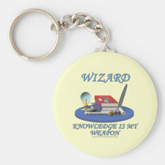 Wizard Knowledge is My Weapon Keychains