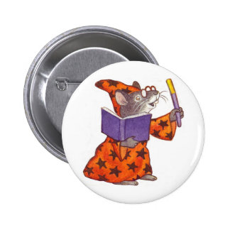 Wizard Mouse 6 Cm Round Badge