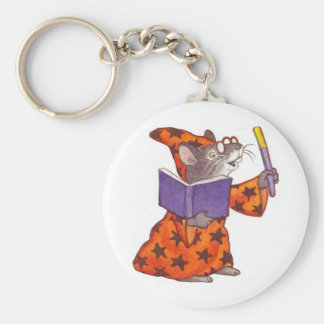 Wizard Mouse Basic Round Button Key Ring