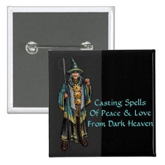 Wizard of Dark Heaven - Custom Button  2 Inch Square Button