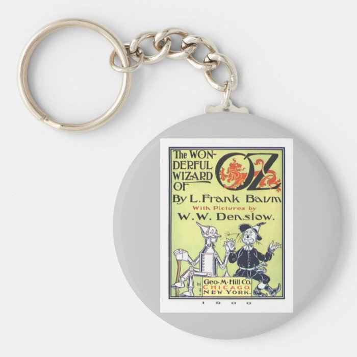 Wizard of Oz Basic Round Button Key Ring