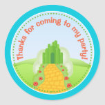 Wizard Of Oz Birthday Party Favour Stickers