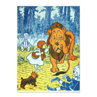 Wizard of Oz Dorothy and the Cowardly Lion 13 Cm X 18 Cm Invitation Card