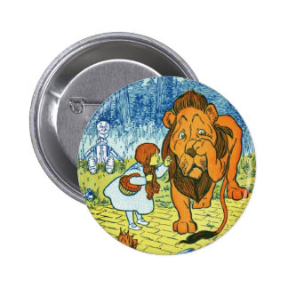 Wizard of Oz Dorothy and the Cowardly Lion 6 Cm Round Badge