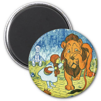 Wizard of Oz Dorothy and the Cowardly Lion 6 Cm Round Magnet