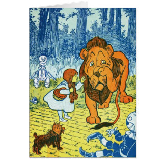 Wizard of Oz Dorothy and the Cowardly Lion Greeting Card