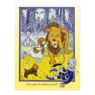 Wizard of Oz: Dorothy Meets The Cowardly Lion Postcard
