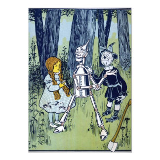 Wizard of Oz Dorothy Tin Woodsman Scarecrow 13 Cm X 18 Cm Invitation Card