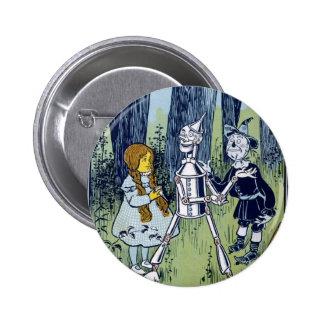 Wizard of Oz Dorothy Tin Woodsman Scarecrow 6 Cm Round Badge