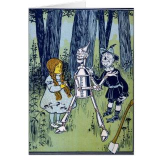 Wizard of Oz Dorothy Tin Woodsman Scarecrow Card
