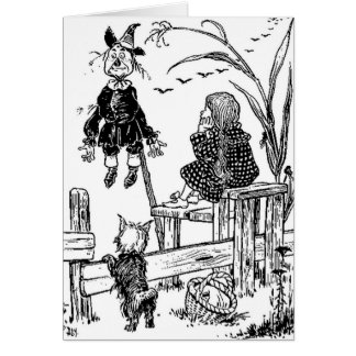 Wizard of Oz Dorothy Toto and the Scarecrow Card