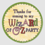 Wizard of Oz Party Thank You Sticker