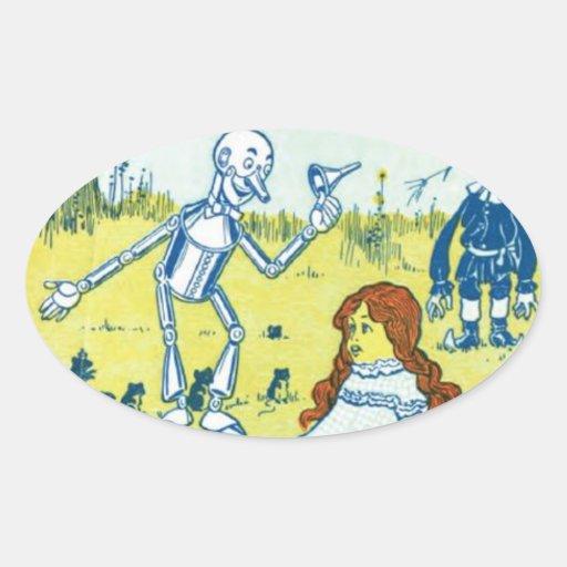 Wizard of Oz Oval Stickers