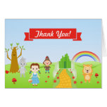 Wizard Of Oz Thank You Card Folded Note Card