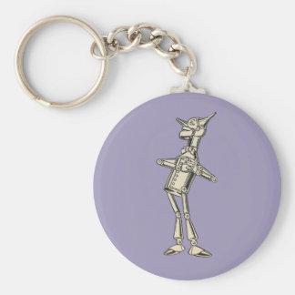 Wizard of Oz Tin Man Basic Round Button Key Ring