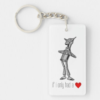 "Wizard of Oz Tin Man ""If I Only Had a Heart"" Key Ring"