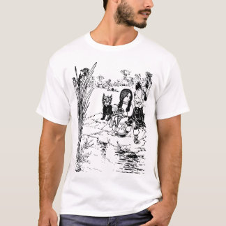 Wizard of Oz Toto, Dorothy and Scarecrow T-Shirt