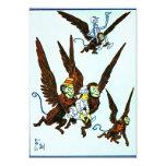 Wizard of Oz Winged monkeys flying monkeys 13 Cm X 18 Cm Invitation Card