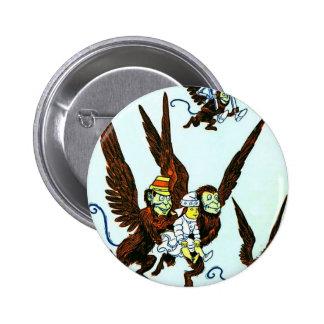 Wizard of Oz Winged monkeys flying monkeys 6 Cm Round Badge