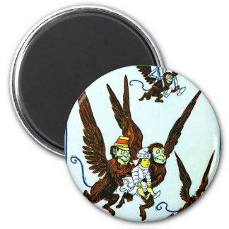 Wizard of Oz Winged monkeys flying monkeys 6 Cm Round Magnet