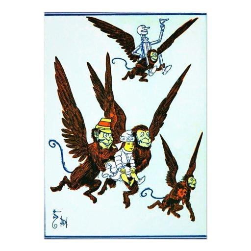 Wizard of Oz Winged monkeys flying monkeys Personalized Announcements