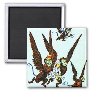 Wizard of Oz Winged monkeys flying monkeys Square Magnet