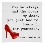 Wizard of Oz you've always had the power quote Poster