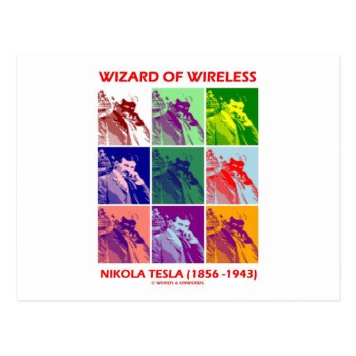 Wizard Of Wireless (Nikola Tesla Nine Pictures) Postcards