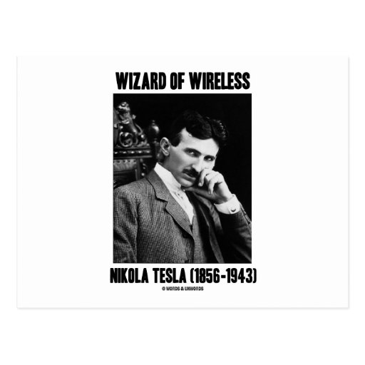 Wizard Of Wireless Nikola Tesla Post Cards