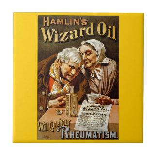 Wizard Oil Vintage Advertisement Tile
