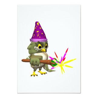 Wizard Owl 13 Cm X 18 Cm Invitation Card