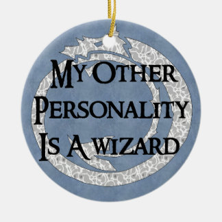 Wizard Personality Double-Sided Ceramic Round Christmas Ornament